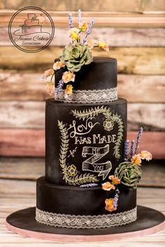 Vintage Chalkboard - Cake by Jaynee Cakes