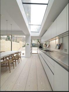 nice kitchen - wooden floor