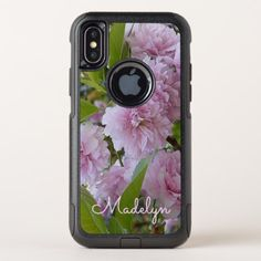 Custom Pink Spring Cherry Blossom Tree Photo OtterBox Commuter iPhone X Case - girly gifts special unique gift idea custom