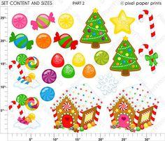 Gingerbread Wonderland Christmas clipart por pixelpaperprints