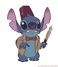 Two of my favorite things!!! Dr. Who Stitch makes me terribly happy