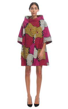 Shop Stella Jean Crater-Print Wax Cotton Coat - Moda Operandi