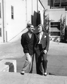 Groucho Marx and Marlene Dietrich