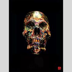 """fifty24 - Soulscraper Poster by David Choe - """"The best skull ever painted in history."""" By David Choe"""