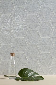 This tile collection is made up of several different hexagonal tile models, all with a handcrafted look. The field tiles combine an uneven surface with a glossy glaze in a choice of different colours. Vezelux, whose golden pattern and relief. Floor Patterns, Wall Patterns, Commercial Interior Design, Commercial Interiors, Hexagon Tiles, Mosaic Tiles, Best Bathroom Tiles, Bathrooms, Bathroom Ideas