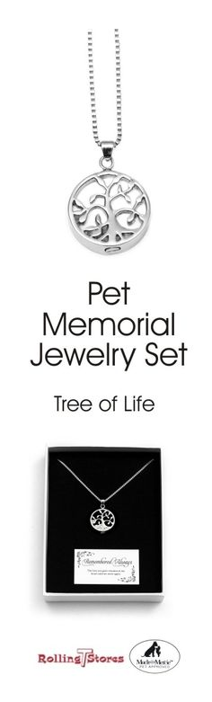 Pet Memorial Stainless Steel Jewelry is a perfect way to remember your loved one or precious fur baby after they are gone. Pet Memorial Jewelry, Memory Tree, Dog Items, Dry Dog Food, Pet Life, Jewelry Tree, Stainless Steel Jewelry, Pet Memorials, Best Friend Gifts