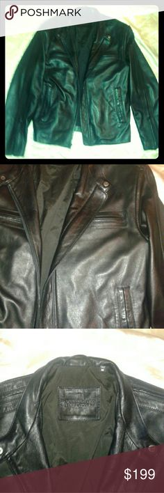 Murano Lambskin Leather Hipster Jacket New Premium lightweight lambskin jacket, notch collar, hand warmer pockets, zippers on sleeves, professional​ leather cleaner only. Murano Jackets & Coats