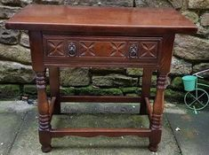 antique carved side table, spanish Baroque console table, antique carved console