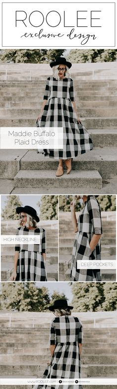 Plaid Dress by ROOLEE