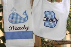 Personalised Baby Bib Turtle  Any Name  Great Gift New Baby// Twins//  //Name Day