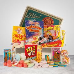 Retro Sweet Gift Box - Sweet Hamper.  Find this and other hampers at: http://www.awin1.com/cread.php?s=357746&v=4980&q=169096&r=197591 #Gift Hampers #Gift Baskets # Food Hampers