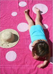 Polka Dot Appliqued Beach Towel tutorial by Vanessa Christenson from V and Co.
