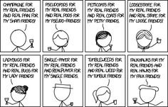 Language Log on xkcd || CHAMPAGNE FOR MY REAL FRIENDS AND REAL PAIN FOR MY SHAM FRIENDS