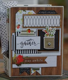 Create an album your family will treasure where we celebrate where we call home.  Button Farm's project features the Welcome Home Collection from Carte Bella.