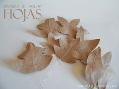 Arte Floral, Visual Merchandising, Place Cards, Place Card Holders, Ideas, Things To Make, Make Paper, Autumn Leaves, Paper Leaves