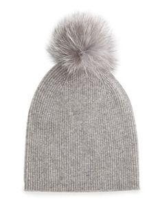 Sofia Cashmere Fur-Pom Hat