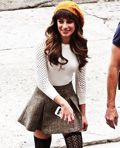 This is like a typical outfit option for me! Lea Michele - loving this whole outfit