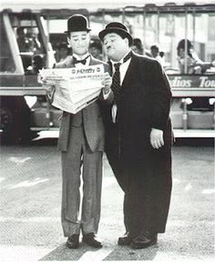 The incomparable Stan Laurel & Oliver Hardy