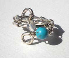 Turquoise,Moonstone Wrapped Silver Wire Ring Pavlos pr http://www.amazon.com/dp/B00NZV6N4S/ref=cm_sw_r_pi_dp_ZL9jub1FTBFC2