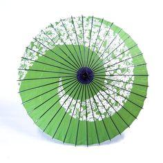 和傘 - 紙舞日傘 萩渦 若草