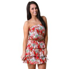 #Floral Tiered Tube #Dress