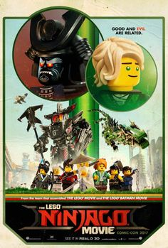 New Poster for 'The Lego Ninjago Movie' - Starring Dave Franco Olivia Munn Fred Armisen Jackie Chan Justin Theroux Michael Pena and Kumail Nanjiani Lego Ninjago Movie, Lego Batman Movie, Ninjago 2017, Fred Armisen, Pokemon, Dc Movies, Movies Online, 2017 Movies, Family Movies