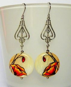 Art Deco Jewelry | ... mother of pearl, art deco jewelry, spring jewelry, handpainted jewelry