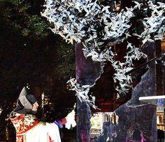 "Archbishop Khajag Barsamian blesses Michael Aram's sculpture, ""Migrations"", at the unveiling ceremony"