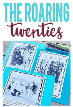 Teaching the Roaring Twenties in Upper Elementary 8th Grade History, High School History, Teaching History, Student Teaching, 5th Grade Activities, History Lesson Plans, 6th Grade Social Studies, Primary Sources, Upper Elementary