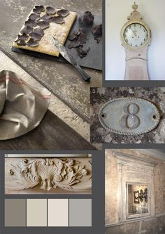 pale chalky rustic dining room