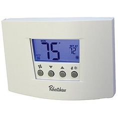 Robertshaw RS6320 3 Heat/2 Cool Digital 7 Day Programmable Thermostat Heat Pump, Single Stage by Robertshaw. $77.25. The Robertshaw RS6000 thermostat family is Simply the Right Choice when it comes to daily programmable temperature controls that can save energy and money. with the comfort, convenience, and efficiency features that homeowners and contractors want.. Save 47%!