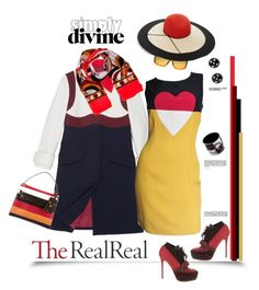 """""""Fall Style With The RealReal: Contest Entry"""" by dianefantasy ❤ liked on Polyvore featuring Prada, Valentino, Moschino, Acne Studios, Gucci, Emilio Pucci, Eugenia Kim, Givenchy and Hermès"""