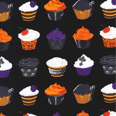 Michael Miller Halloween GOTH CUPCAKES by NauvooQuiltCo on Etsy