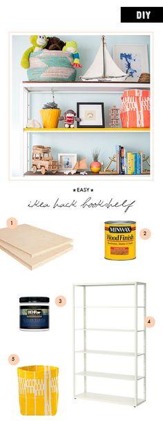 DIY ikea hack bookshelf  | 100 Layer Cakelet