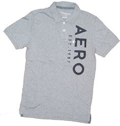 Aeropostale Men's AERO Graphic Logo Polo Shirt (M, Gray -... https://www.amazon.com/dp/B01D5DKKQM/ref=cm_sw_r_pi_dp_x_wZ2byb9KACJSM