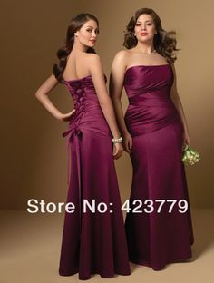 Best Selling Strapless Burgundy Lace Up Bridesmaid Dresses 2013 Women Plus Size Bridesmaid Dresses $98.89