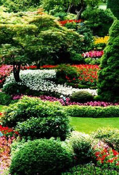 Butchart Gardens   Description: Near Victoria in British Columbia (Vancouver Island), this is the most stunning garden I've ever seen.