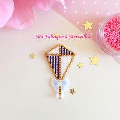 "Broche Cerf-Volant marin ""Le Cerf-Volant de Mary"" en perles Miyuki : Broche par ma-fabrique-a-merveilles"