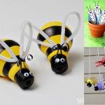 6 children's crafts friendly insects