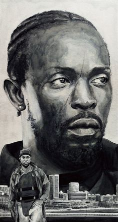 Omar Little, Print from Original Painting