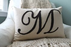 The Sweet Survival: Another Felt Monogram Pillow
