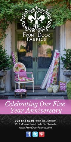 Celebrating 5 years of creating beauty!!!i need to check this place out for slipcover fabric