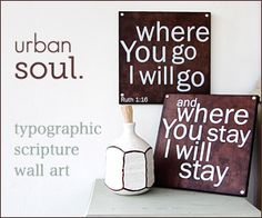 Quotes split over two canvases