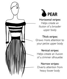 How to wear stripes for your body type? The shortcut to Style #bestskirttypeforpearshaped