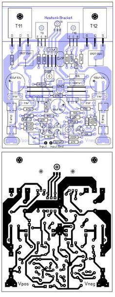 500w Audio Amplifier Circuit Diagram Pcb  500w Rms Power Amplifier Pcb Design And Layout  500w
