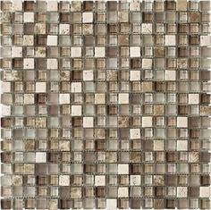 Stone Medley | Travertino Mix Light Emperador (5/8 x 5/8)  kitchen tile