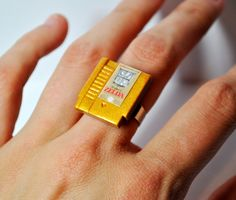 NES Nintendo Cartridge CHOOSE any game RING by ohmygeekness. , via Etsy.