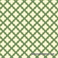 Fabric... Up Parasol Trellis in Loden by Heather Bailey for FreeSpirit Fabrics
