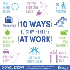 10 Ways to Stay Healthy at Work :: Suja Juice