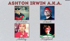Holy crap I remember when 5 Seconds of Summer first made the videos of them being superheros and Ash was the only one with out the muscle padding stuff :)